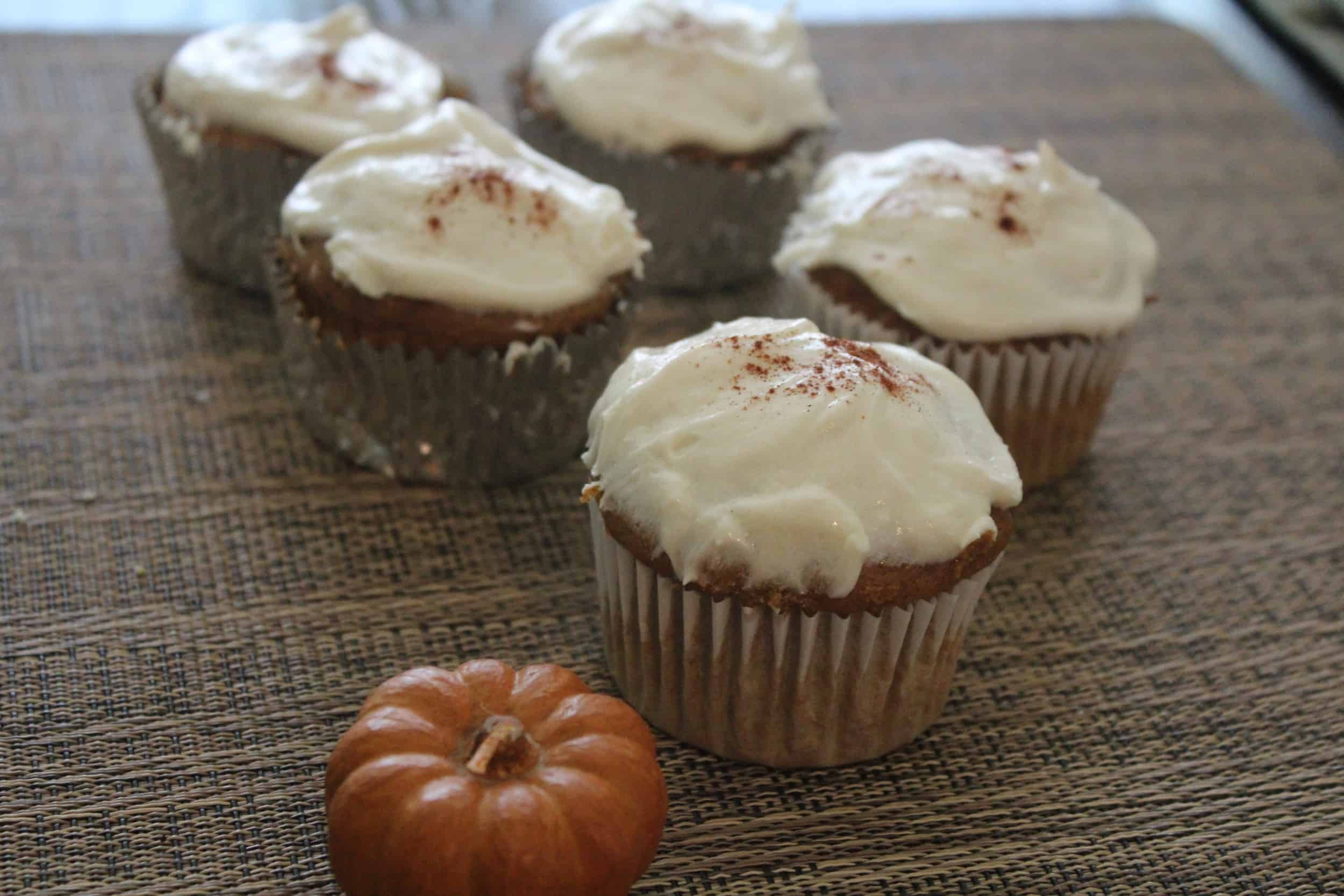 Image of Pumpkin Cupcakes with Cream Cheese Frosting