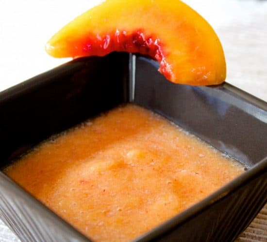 Image of Peach Puree in a Dish