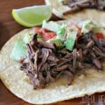 Slow Cooker Chipotle Beef Barbacoa #slowcooker #beefrecipes