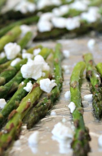 Image of Roasted Asparagus with Feta Cheese