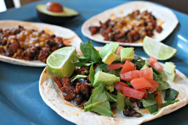 Image of Easy Ground Turkey Tostadas
