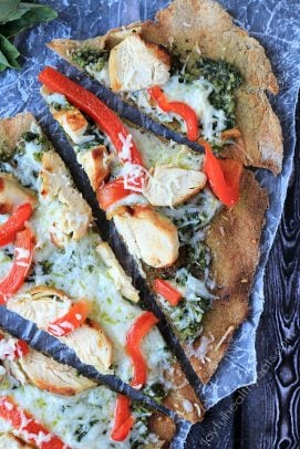 Image of Grilled Chicken Pesto Pizza