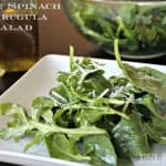 Title Image for my Simple Spinach & Arugula Salad