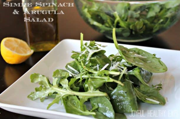 Simple Spinach & Arugula Salad