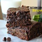Zucchini Chocolate Chip Brownies