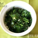 Real Men Cook: Sautéed Garlic Spinach