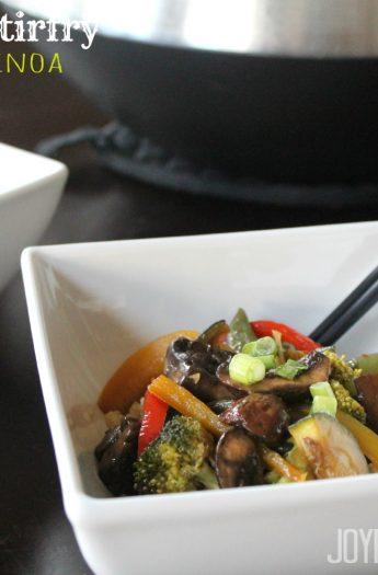 Image of veggie stirfry over quinoa