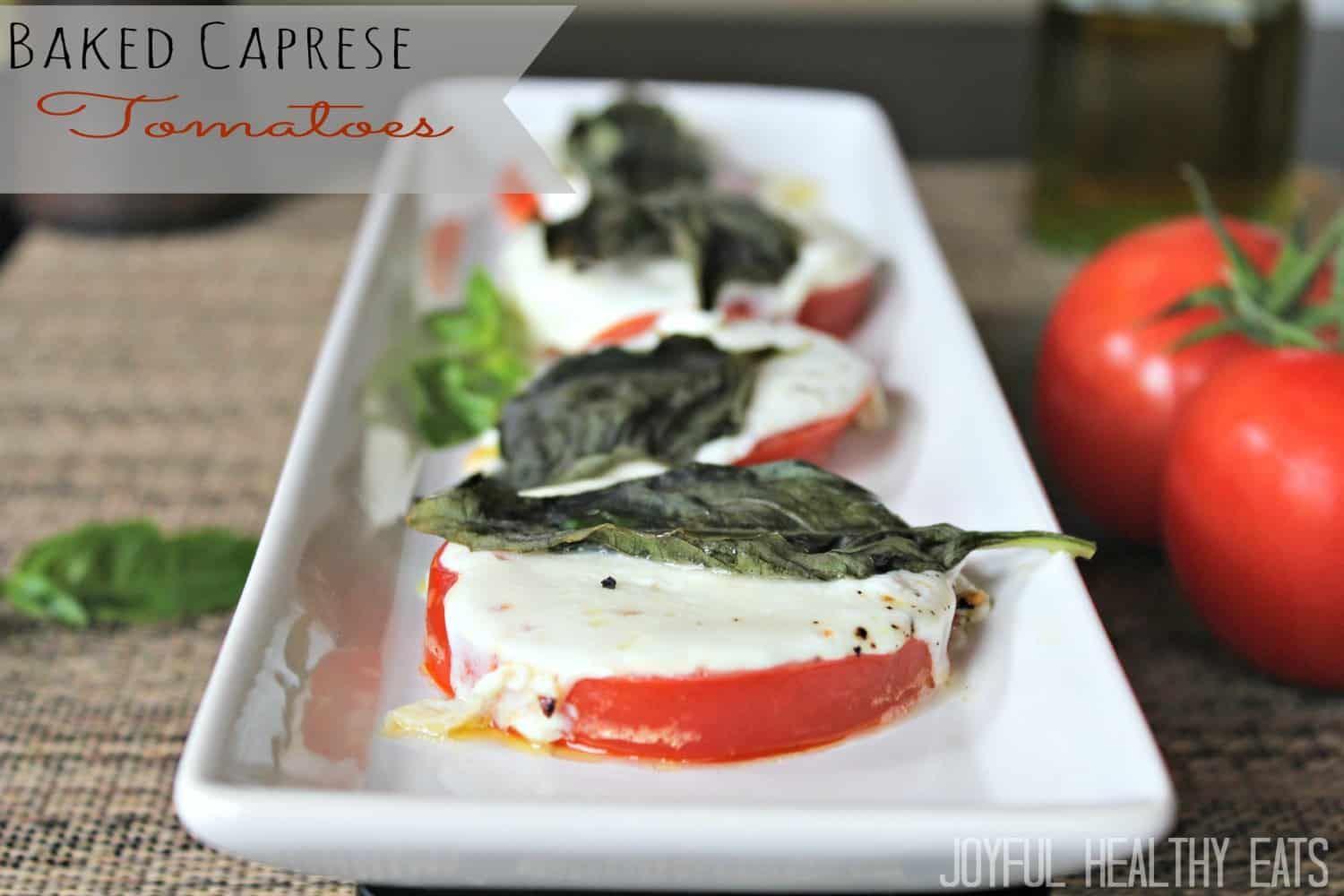 Image of Baked Caprese Tomatoes