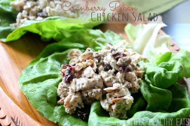 Cranberry Pecan Chicken Salad #Craisins