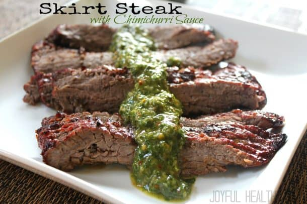 Skirt Steak with Chimichurri Sauce #cincodemayo