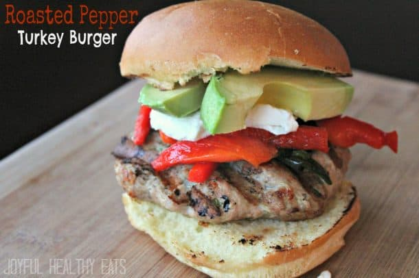roastedpepperturkeyburger