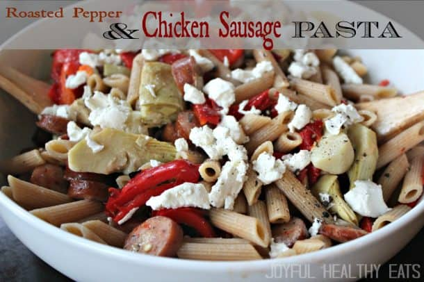 Roasted Pepper & Chicken Sausage Pasta