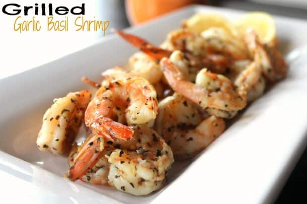 Grilled Garlic Basil Shrimp #getgrillin #shrimp #helping hubbie recipe