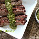 Image of Skirt Steak with Chimichurri Sauce
