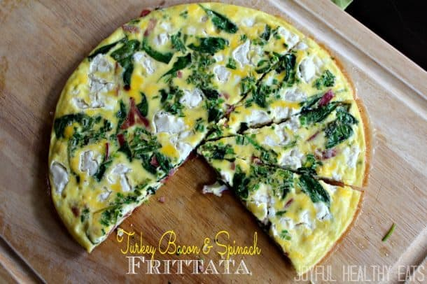 Image of a Turkey Bacon & Spinach Frittata