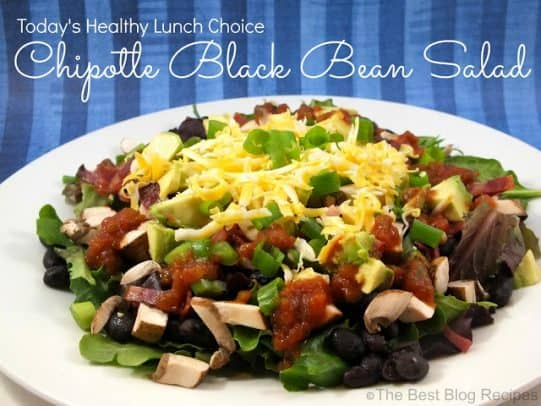 Chipotle+Black+Bean+Salad+recipe+from+The+Best+Blog+Recipes
