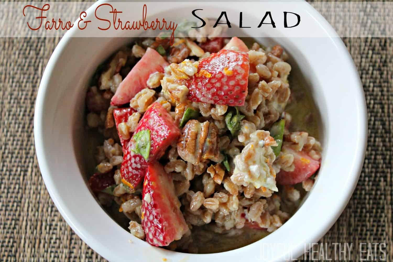 Farro & Strawberry Salad #saladrecipes #farrorecipes