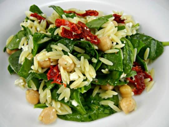 Fast-Easy-Recipe-Perfect-for-Summer-Orzo-Salad-with-Spinach-Chickpeas-vegetarian-recipe-thetastyfork-1024x768