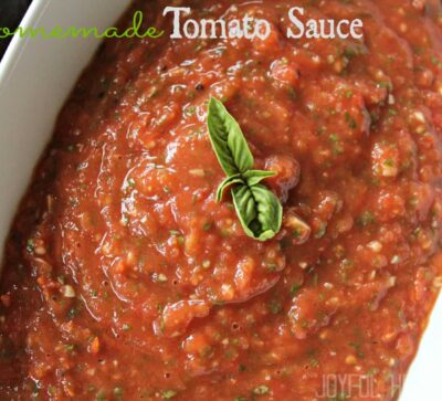 Homemade Tomato Sauce #pastasaucerecipes