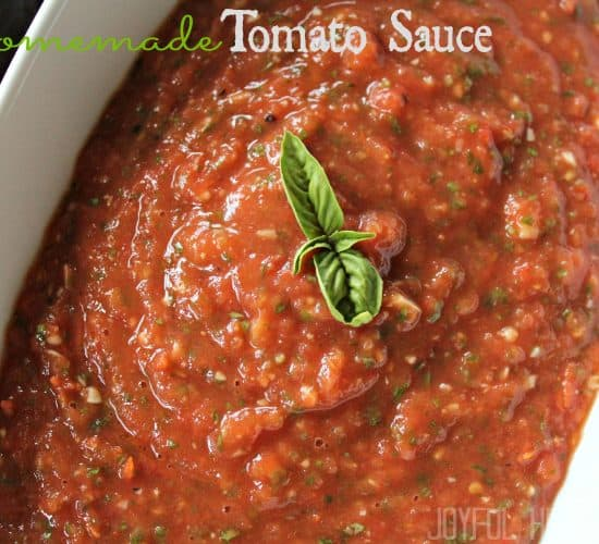 Homemade Tomato Sauce #pastasaucerecipes