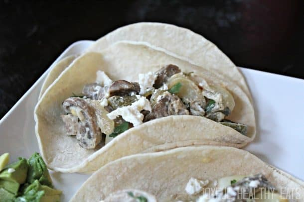 Mushroom Potato Poblano Tacos 12