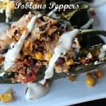 Stuffed Poblano Peppers #cincodemayorecipes