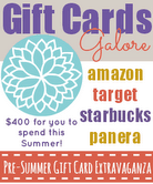 Gift Card Extravaganza #giveaway