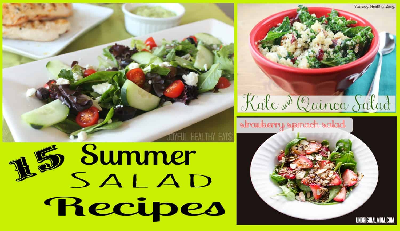 Summer Salad Recipe Roundup #saladrecipes