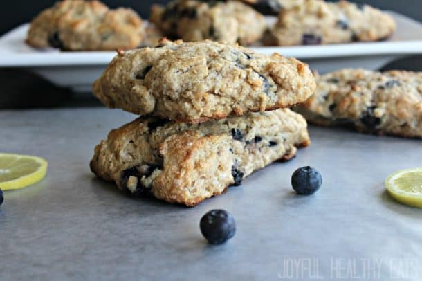 Blueberry Lemon Scones #sconerecipe #healthyscones