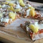 Hawaiian Pizza on the Grill with Mango BBQ Sauce