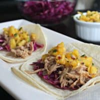 Hawaiian Kalua Pork Tacos with Pineapple Salsa