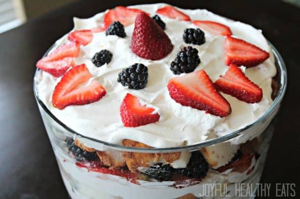 Image of a Strawberry Shortcake Trifle