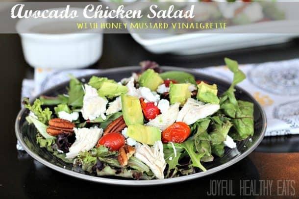 Avocado Chicken Salad #healthysalad #lightsalad