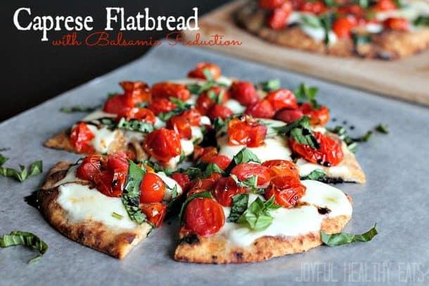 Caprese Flatbread #caprese #flatbread #entree #pizza