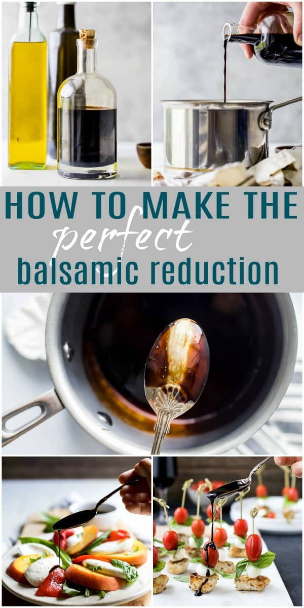 how to make the perfect balsamic reduction pinterest pin