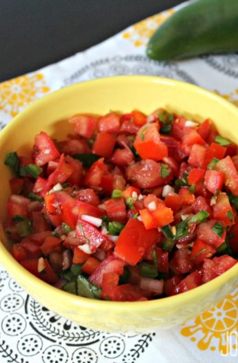 Pico de Gallo #freshsalsa #picodegallrecipes