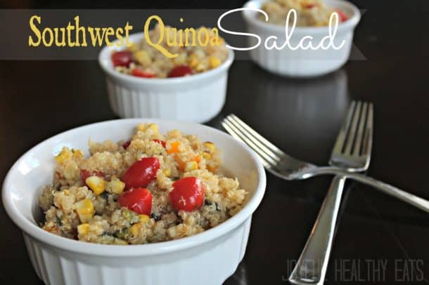 Southwest Quinoa Salad #quinoarecipes #quinoasalad