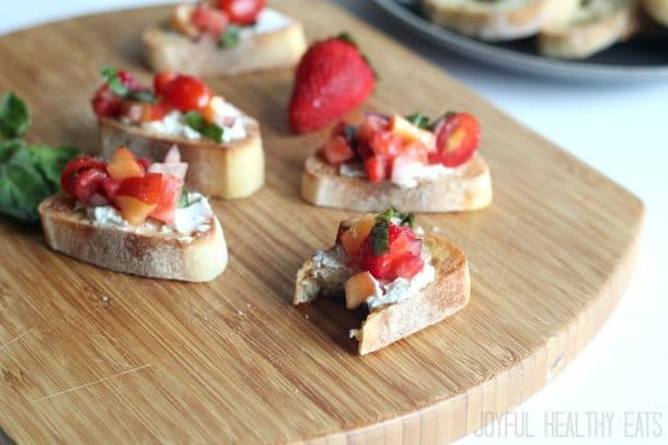 Strawberry Nectarine Bruschetta 11