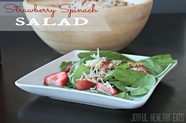 Strawberry Spinach Salad #spinachsalad #saladrecipes