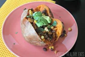 Tex-Mex Stuffed Sweet Potato #sweetpotato #texmex #vegetarian