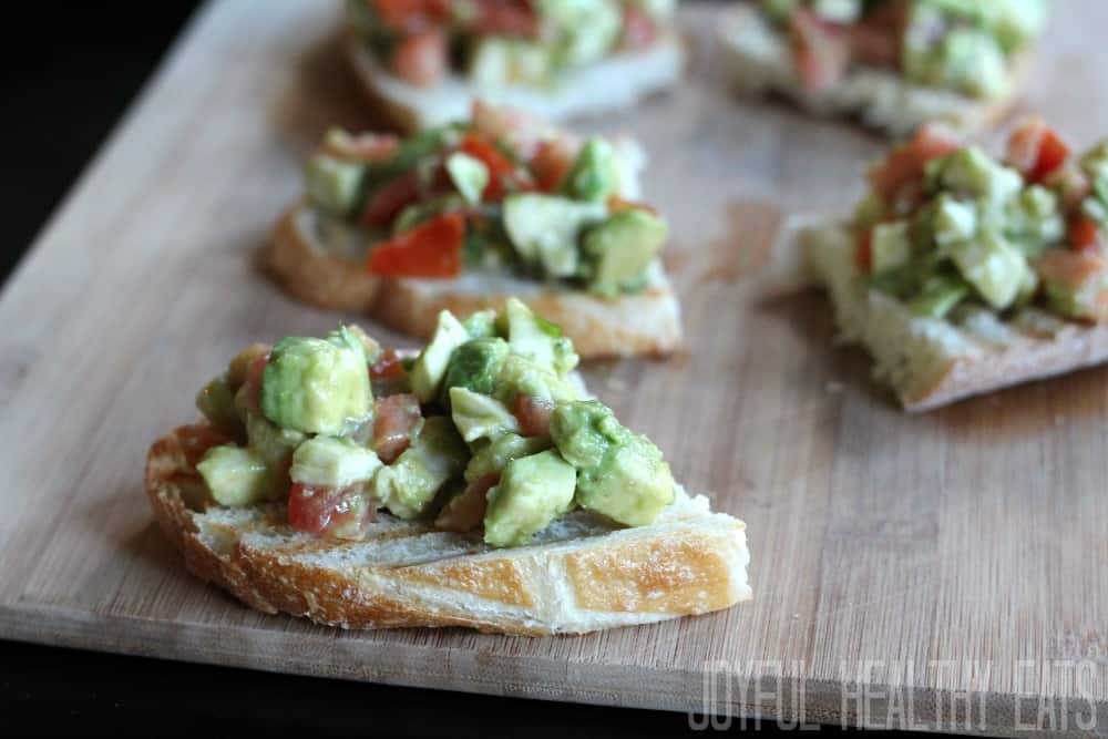 Avocado Crostini #avocado #healthyappetizer