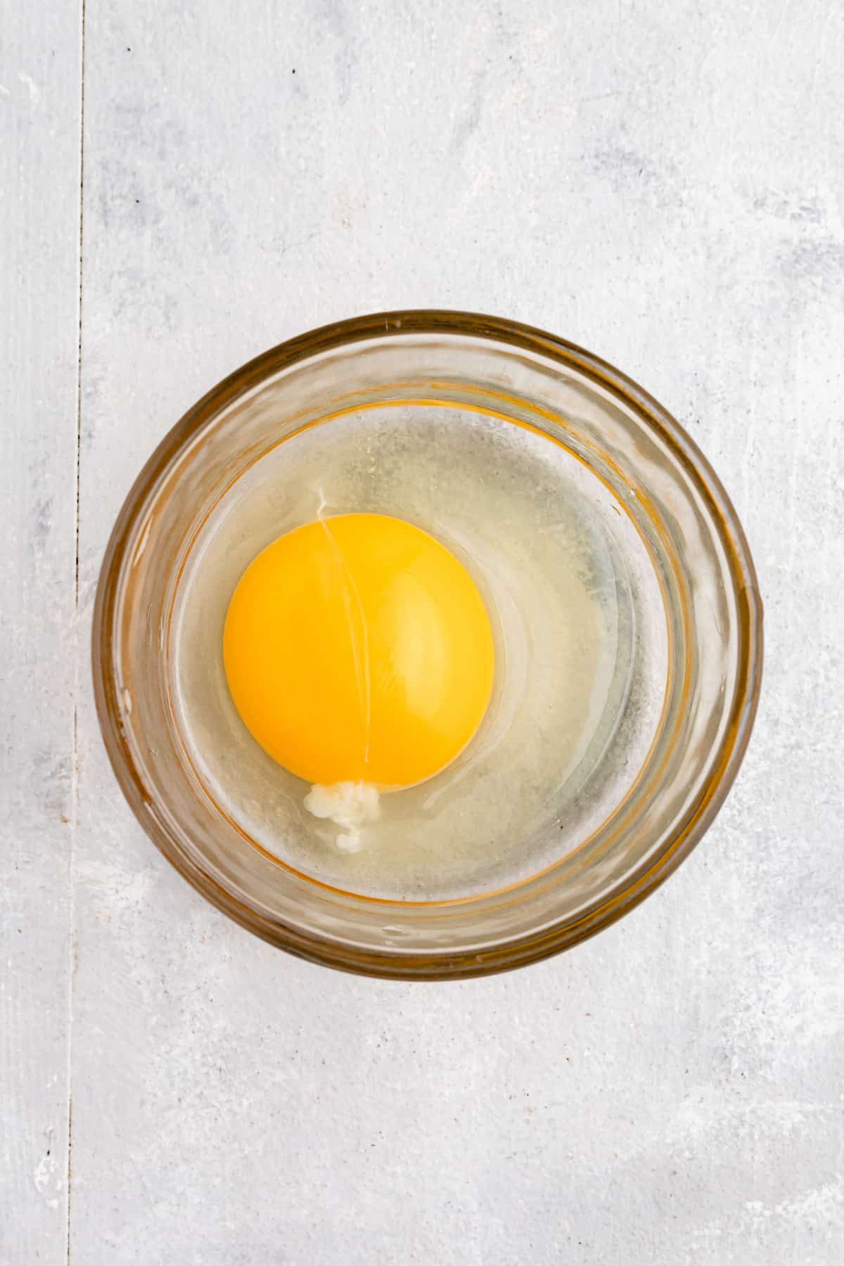 Egg in a small dish