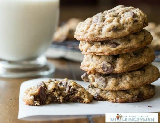 Whole Wheat Amaretto Chocolate Chip Cookies
