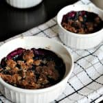 Image of Two Paleo Blueberry Cobblers