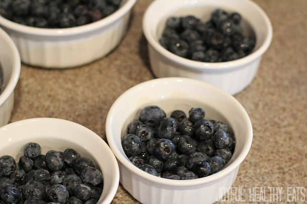 Image of Blueberries in Ramekins