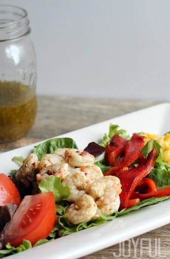 Grilled Shrimp Salad #healthysalad #grilledshrimp