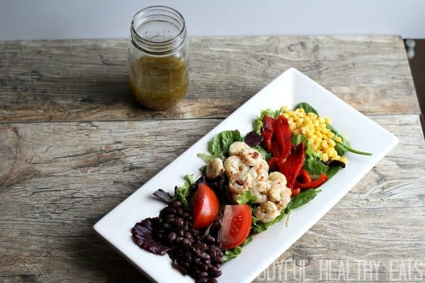 Healthy Grilled Shrimp Salad