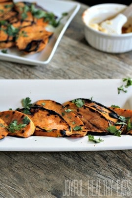 Grilled Sweet Potatoes #sweetpotatoes #grillrecipes #healthysidedishes