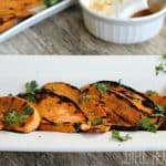 Grilled Sweet Potatoes with Chipotle Honey Lime Butter