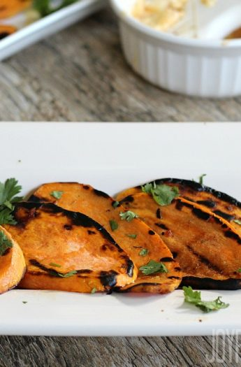Grilled Sweet Potatoes #grillrecipes #heatlhysidedishes #sweetpotato